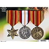 3 X Millitary Medals Arm Fancy Dress War Time Hero Medal Soldier Fancy Dress