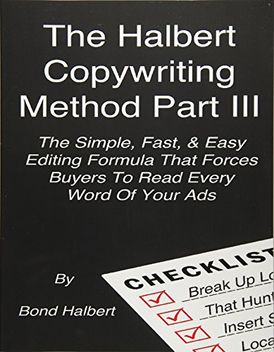 Download pdf the halbert copywriting method part iii the simple download pdf the halbert copywriting method part iii the simple fast easy editing formula that forces buyers to read every word of your ads by bond malvernweather Choice Image