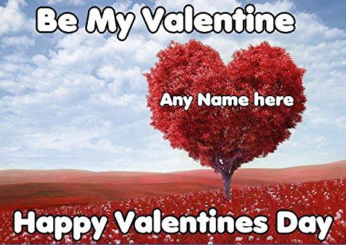 e tv396Fun Cute Valentine 's Day Karte A5personalisierbar Grußkarte ()