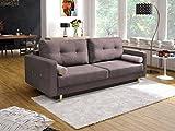 mb-moebel Couch mit Schlaffunktion Sofa Schlafsofa Wohnzimmercouch Bettsofa Ausziehbar - Newark (Schokolade)