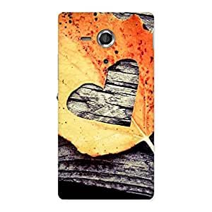 Special Leaf Heart Back Case Cover for Sony Xperia SP