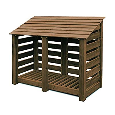 Cottesmore 4ft Wooden Log Store/Garden Storage Heavy Duty Pressure Treated Wood
