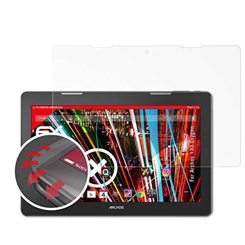 atFolix Schutzfolie passend für Archos 133 Oxygen Folie, entspiegelnde & Flexible FX Bildschirmschutzfolie (2X)