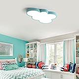 Dimmbar LED Schlafzimmerlampe Modern Kreative Wolken Design Deckenleuchte Kinderlampe Bunt Deckenlampe Ultraslim Innenbeleuchtung Lampe Kinderzimmer Decke Beleuchtung Leuchten Direkt 55cm*39cm*5cm , Blau