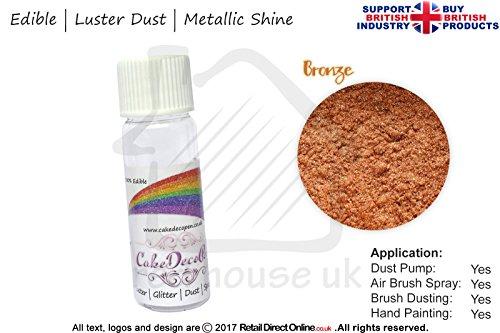 Pure Metallic Effekt Glanz Shimmer Staub | 100% Essbar | Bronze Gold | 4Gramm | Kostenlose...