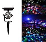 DevilLover Solar im Freien Drehen Projektionslampe RGB Bunte Drehen Fernbedienung Projektor Lampe für Karneval Weihnachten Innen Außen Beleuchtung