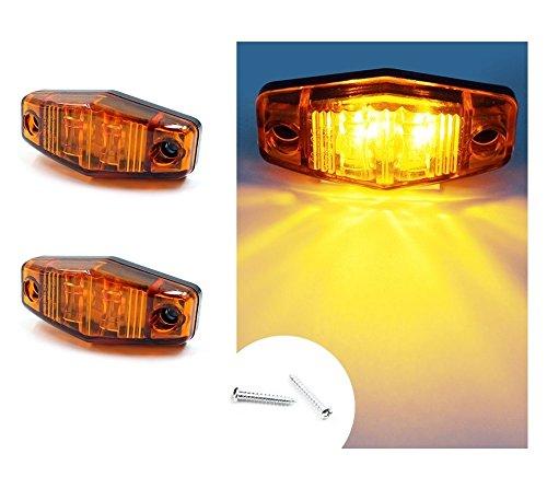 2 x LED n/éon position lat/érale 12 V 24 V feux de gabarit long pour camion caravane remorque blanc orange rouge