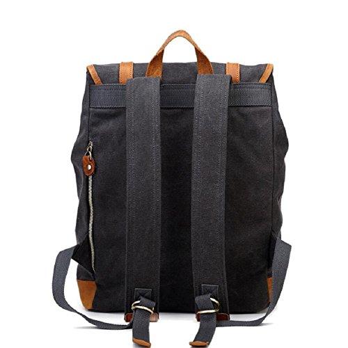 LJ&L Retro-Stil Retro-Leinwand Männer und Frauen gemeinsamen Rucksack, Computer-Tasche, Bergsteigen Wandern Outdoor-Rucksack A