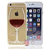 Best Iphone 6 Plus Case For Girls - KC Fashionable Wine Glass Case with Floating Liquid Review