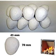 Piedras de cerámica para gas de recambio, color blanco, ...