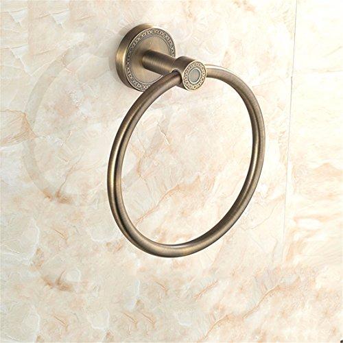 sadasd Handtuch Ring für europäische Bronze Antik Kupfer Rohr Badezimmer Wandmontage Zubehör Set (Zeichnung Kunststoff-rohr)