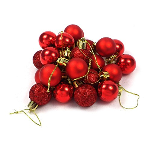 kleine minni Dekokugeln Weihnachten Weihnachtskugeln Kugeln rot matt glänzend glitzernd 24 Stück 3cm rot