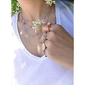 JU Jewels - Halsband mit blumen