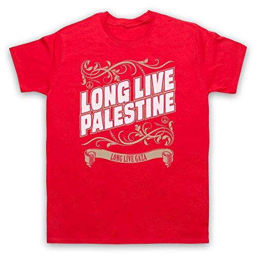 Long Live Palestine Long Live Gaza Herren T-Shirt Rot