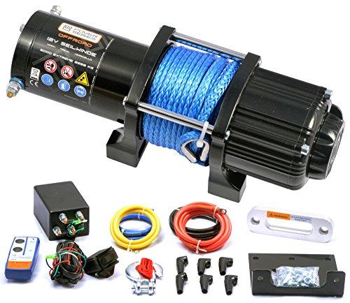 Preisvergleich Produktbild Power Series® 12V Elektrische Seilwinde 5000 Extreme mit Funkfernbedienung und Handschalter - Zugkraft 2268 kg (Kunststoffseil/Synthetikseil) / 4536 kg (mit Umlenkrolle)