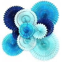 Feelshion Rosetones papel de seda para la decoración de fiestas infantiles, cumpleaños y otras ocasiones especiales