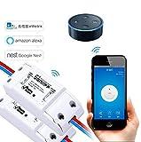 Interruptor Control Remoto Inalámbrico Smart Home con Wifi Controlador de Interruptor Inteligente con ABS, EVILTO Módulo de Conmutador con Aplicación Para iOS & Android - 2 Unidades