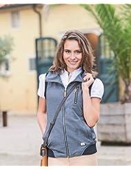 Lauria garrelli chaleco de equitación - Toscana - Deluxe caballo talla S, colour gris