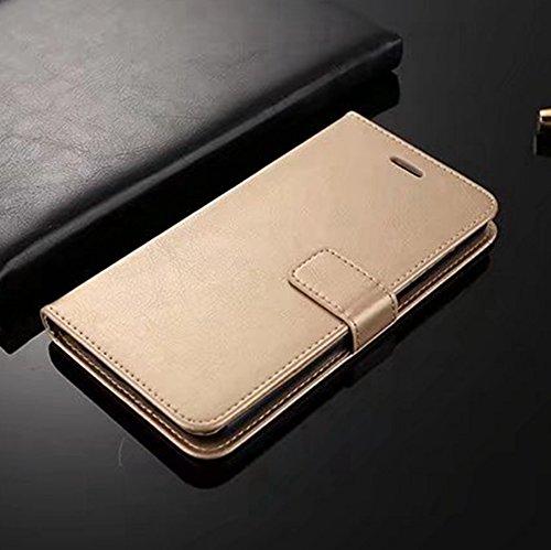 Retro Folio Stand Case Retro Classic PU Leder Geldbörse mit Kartensteckplätzen für Huawei Nova 2 ( Color : Gold ) Gold