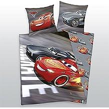 Herding Bettwäsche-Set Disneys Cars 3, Baumwolle, Grau, 200 x 135 cm