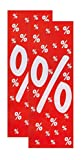 Plakate 2 Stück aus Papier 150g/qm 48 x 138 cm%%%% Werbesymbol