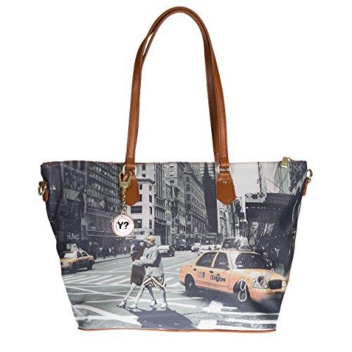 Y NOT? Tracolla da donna, borsa shopping grande g-397 New York Walk in N.Y.