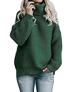 Yidarton Femme Pull Col Roulé à Manches Longues Sweater Blouse Chic Chaud Tricot Hauts Pullover Tops