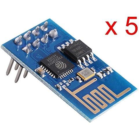 DAOKAI® 5PCS ESP8266 Serial rete senza fili del modulo del