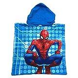 PONCHO Mare Spiderman Uomo Ragno Marvel Asciugamano Accappatoio Poliestere CM. 50x100 - SE1753/2