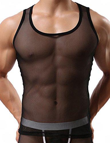 handu-a-rete-da-uomo-slim-fit-aderente-trasparente-allenamento-palestra-canotte-black-l