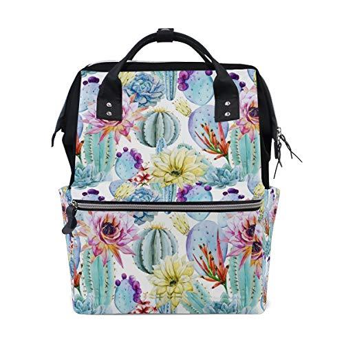 FANTAZIO Rucksäcke Kaktusblüten Aquarell Schultasche Segeltuch Daypack (Bookbags Jansport Für Jungen)
