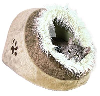 Minou Beige Cuddly Cave Pet Bed