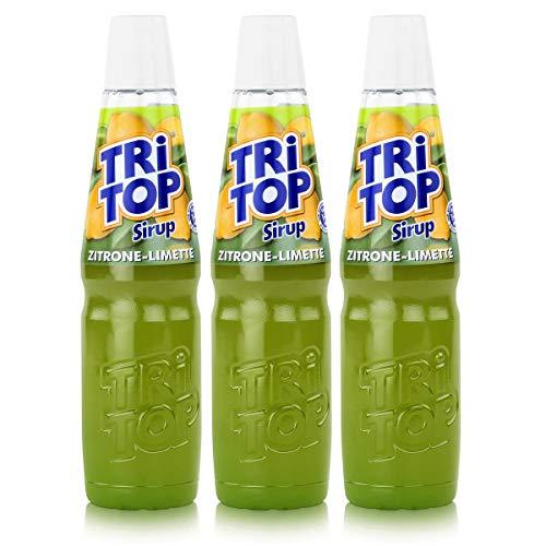 Tri Top Getränke-Sirup Zitrone-Limette 600ml - kalorienarm (3er Pack)