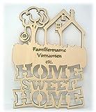 Familienschild Türschild Wandschild Home Sweet Home Haus & Garten mit Namen
