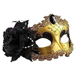 Yanhoo Temptation Weihnachtskugel Maske halbes Gesicht Feder Maske Prinzessin Maske Maskerade Maske weibliche Partei Maske