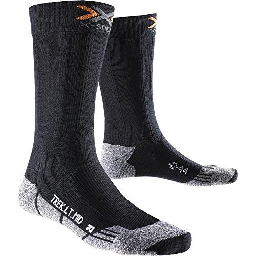 X-Socks Paire de chaussettes mi-mollet légères de randonnée Noir Blackmelange