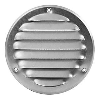 125mm Lüftungsgitter Schlitz-Gitter Abluftgitter Lamellengitter Insektenschutz Ø 125 mm, mr125zn