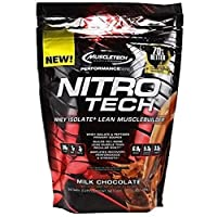 MuscleTech Performance Series Nitro-Tech - Milk Chocolate 10Lbs, 4.54 kgs 103 Servings