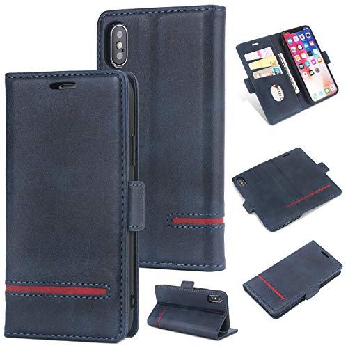 Preisvergleich Produktbild Handy hülle Tasche Leder Flip Case Brieftasche Etui Schutzhülle für Apple iPhone X XS / XR / XS MAX / 6G 6s / 6 Plus / 7G 8G / 7Plus / 8Plus hülle, 5 Farben