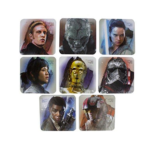 Star Wars: Die letzten Jedi Die letzten Jedi Untersetzer, Mehrfarbig