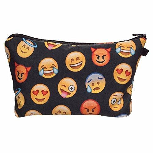 Smallbox-Emoji-Singe-Licorne-3d-Impression-Femmes-Cosmtique-Sac-Esthticienne-Organisateur-Peine-de-Maquillage-Sac