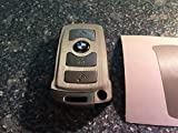 Carbon Folie - Dekor Carbon Silber Gebürstet Schlüssel Folie BMW Key E67 5er E67 6er 7er E65 E66 E M 3 Tasten uvm.