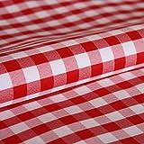 Hans-Textil-Shop Stoff Meterware Karo 1x1 cm Rot Polyester