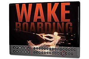 Dauer Wand Kalender Fun Wakeboard Metall Magnet