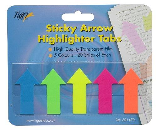 Pack de 500flechas de relieve pestañas página marcador oficina/escuela papelería