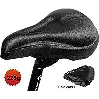 Gel Bike Sitzbezug - MAIKEHIGH Bike Sattelkissen-Bequemer Fahrradsitz. Beste Gel Sattel Abdeckung, breit und groß geeignet für Mountain Bike Sitze und Rennrad Sättel.