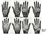 Aktion ! Schablonen 8 Stück Set zur einmaligen Verwendung für Hände auch für Glitter Tattoo und Air Brush Tattoo geeignet Set Dalia