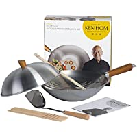 Ken Hom Carbon Steel Everyday Wok 10 Piece Set, 31cm