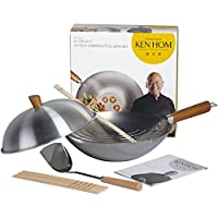 Lightweight carbon steel for high temperature stirfry cooking Wooden handle for comfortable use when cooking Suitable for all hobs except induction Endorsed by renowned Chinese chef Ken Hom  Box Contains 1 x Ken Hom Carbon Steel Everyday Wok ...
