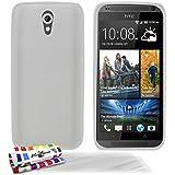 Muzzano F2501327 - Funda para HTC Desire 620 + 3 protecciones de pantalla, transparente